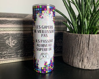 French gift for gamers, 20 oz sublimation tumbler for hot and cold drinks by Felicianation