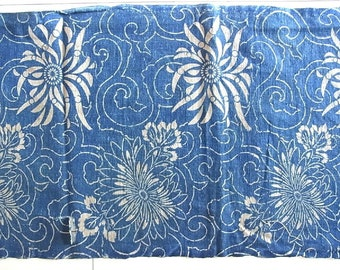 Aizome, Aizome Fabric, Japanese fabric, 148cm, Antique fabric, Indigo fabric,  Blue Katazome, Boro,