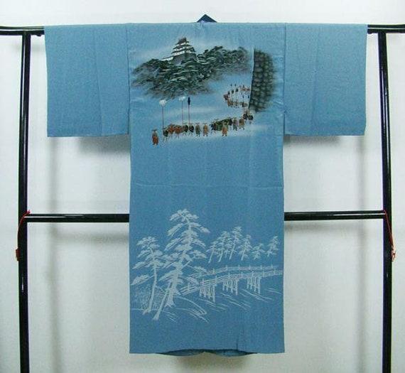 Mens Kimono, Samurai Kimono, Mens Jyuban, Mens Kim