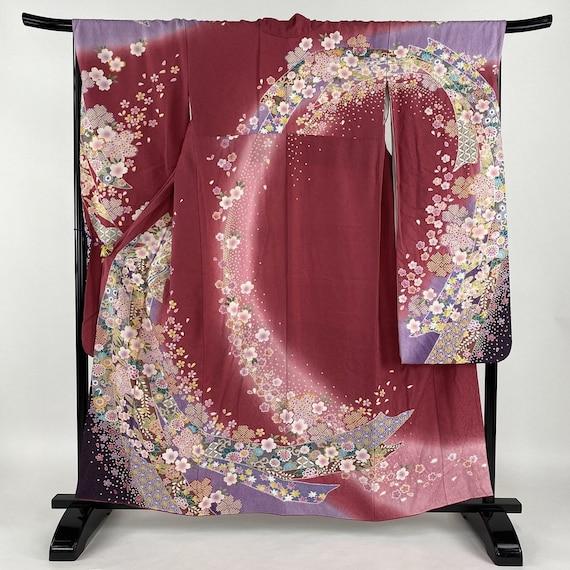 Furisode Kimono Red, Silk Furisode, Wedding Kimono