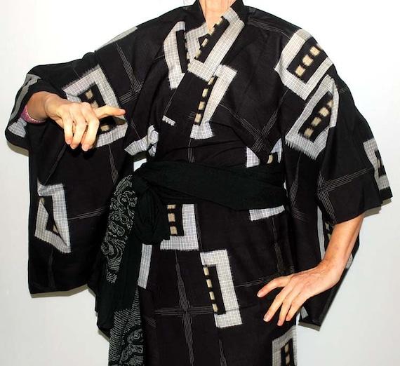 Sheer Kimono Black, getting ready robe, Sexy Kimon