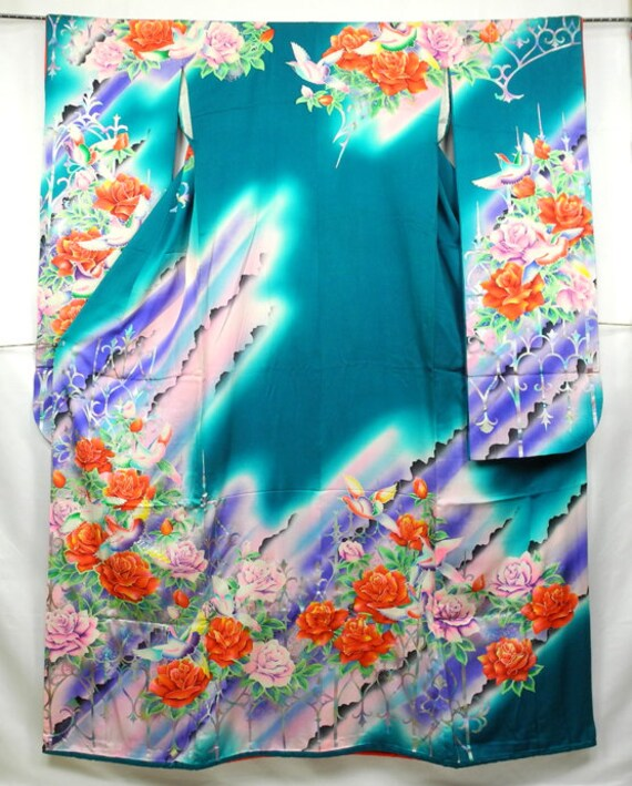 Furisode Kimono, Silk Furisode, Wedding Kimono Dre