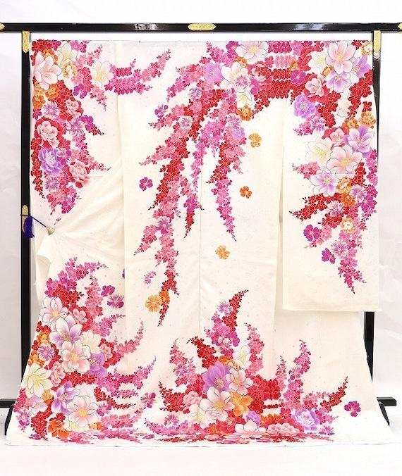 Furisode Kimono Pink, Silk Furisode, Wedding Kimon
