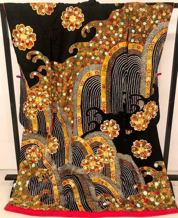 Uchikake Kimono, Wedding Kimono, Japanese Kimono,