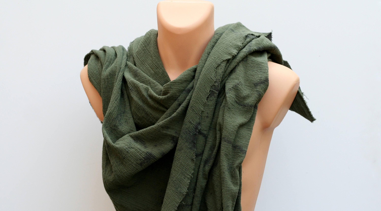 Post Apocalyptic Shawl Wrap,Drab Green Drape Wrap, Shoulder Cowl, wasteland slinky shemagh, fallout shawl, moyamensing dystopian scarf