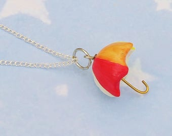 Rainbow Umbrella Necklace