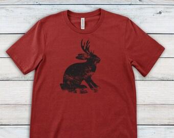 31597d1f Jackalope T Shirt, Mythical Creature Shirt, Funny T shirt, Cryptozoology,  Cryptozoologist, Jackrabbit Antelope Horns Tee, Nessie, Big Foot