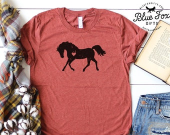 HEART OF A HORSE  Equine Lover  T Shirt  XL   Equestrian  G0