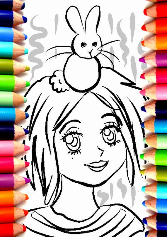Bonito Chica Anime Para Colorear Inspiración - Ideas Para Colorear ...
