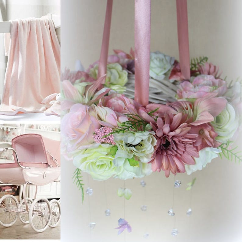 Kronleuchter Rosa Blume Madchen Dekor Dusche Crystal Blumen
