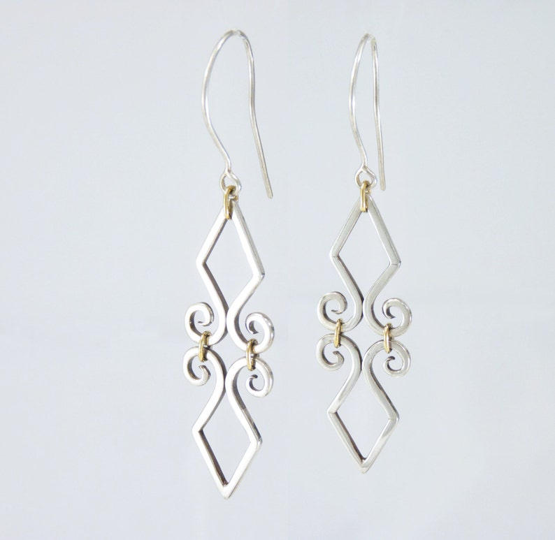 8f7e18c1c Fleur de Lis Earrings Sterling Silver and 14k Gold filled | Etsy