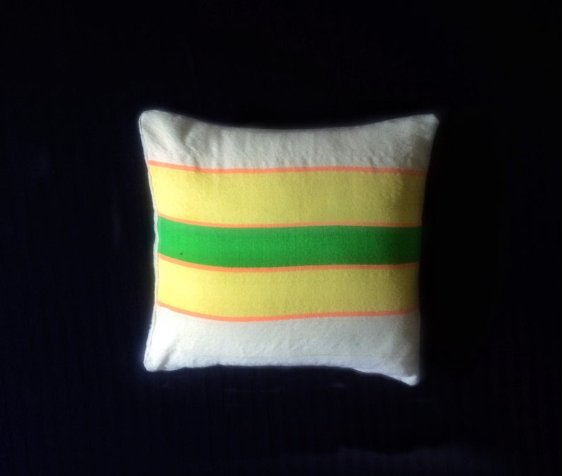 Wool cushion cover with stripes