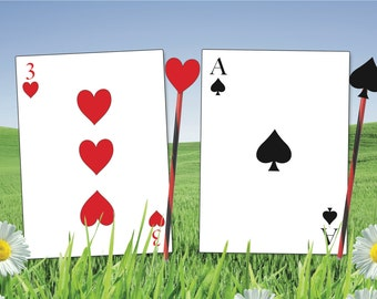 image regarding Playing Card Printable titled Enjoying playing cards Etsy