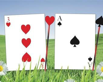 image regarding Playing Card Printable titled Enjoying playing cards Etsy