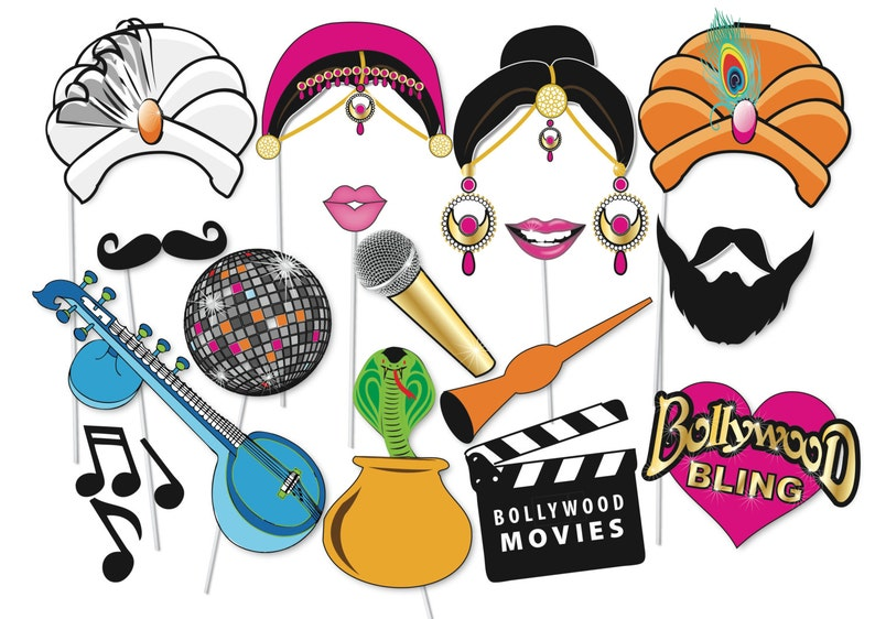 photo regarding Photo Props Printable named Bollywood Get together Photograph booth Props Mounted - 16 Piece PRINTABLE - Bachelorette photograph booth, Bollywood Wedding ceremony, Amusing photographs, indian decorations