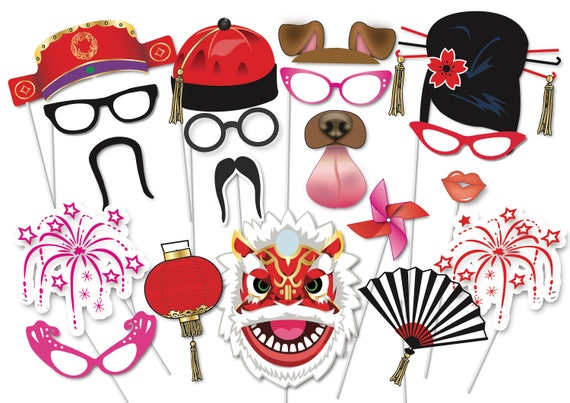 Chinese New Year Party Photo Booth Party Props