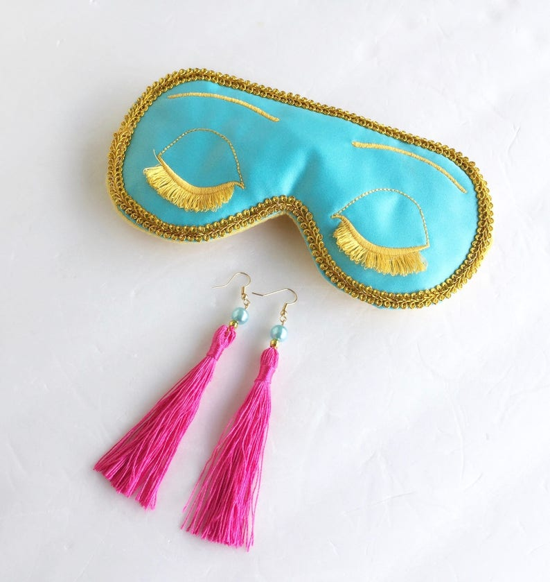 322ec4af91c3b Big Little Lies Mask Earrings Breakfast at Tiffanys Sleep Mask, Big Little  Lies, Bachelorette Party Mask.