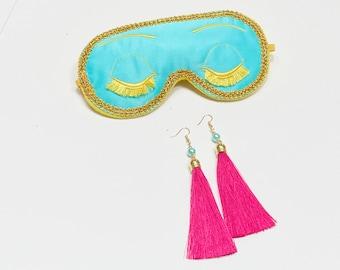 Big Little Lies Mask Earrings Breakfast at Tiffanys Sleep Mask, Big Little Lies, Bachelorette Party Mask.