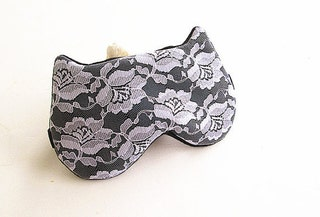 Lace Eye mask, Sleep mask, eye sleep mask, Kitty eye mask, Cat eye mask, Kitty sleep mask-Black.
