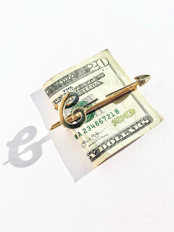 Vintage Retro Monogram  NSR  Money Clip 1968