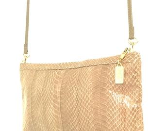 Vintage Saks Fifth Ave Snakeskin Bag