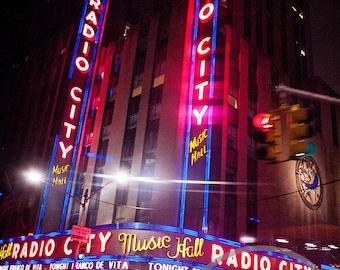 Radio City by Night, New York City, NYC Cityscape