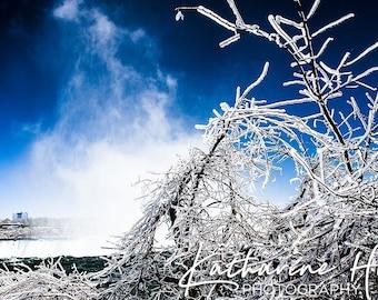 Ice, Niagara Falls, Ontario, Canada Colour Photographic Art Print
