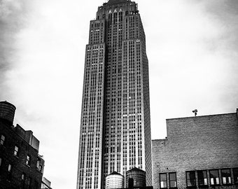 Empire State, NYC, Black and White Photographic Art Print