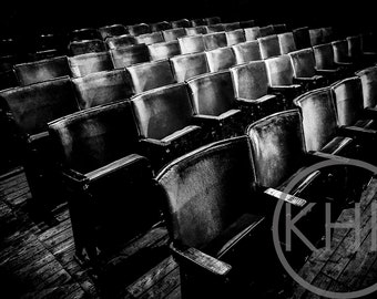 Old Theatre, Black and White Photographic Print