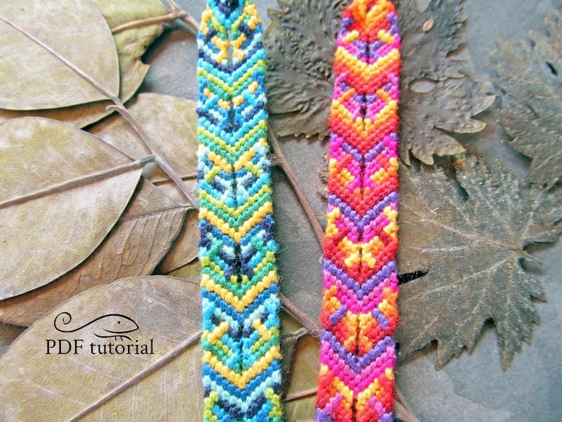 Friendship Bracelet Pattern Macrame Bracelet Pattern image 0