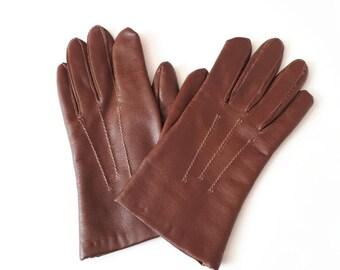 3d79370e7 Debenhams gloves 1980's vintage gloves 1980's brown gloves vinyl gloves  ladies vintage gloves size 7.5