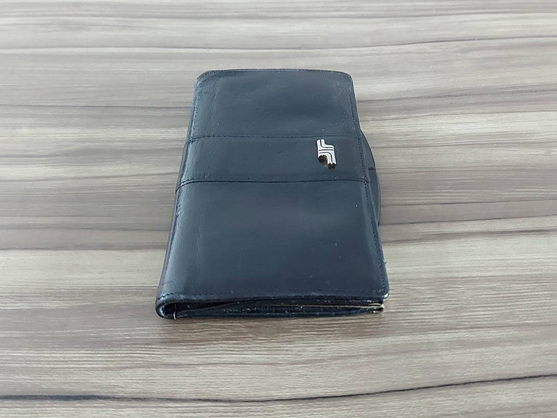Mico medium sized 1970/'s vintage soft black leather purse