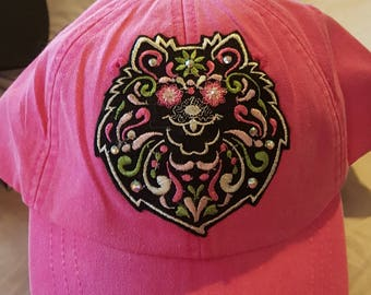 Pink Pomeranian Baseball Cap