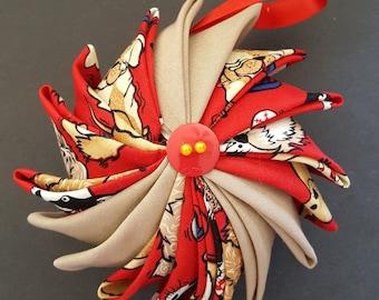Puppies Go Round Pinwheel Ornament