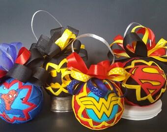 Superhero Ornament Set