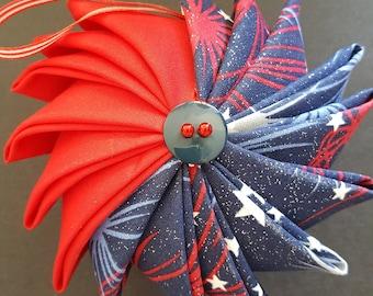 Patriotic Pinwheel Ornament