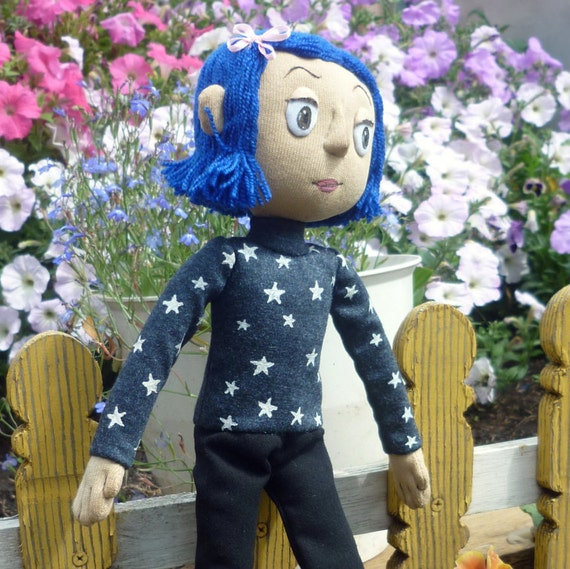 Coraline Doll With The Outfit With The Stars Etsy
