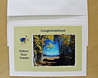 Graduation Congratulations Card: Blank inside; created by Pam of Pam's Fab Photos