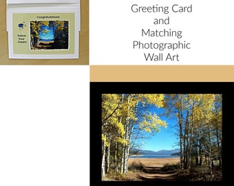 Graduation Gift Set: Frame-ready Wall Art/Coordinating Greeting Card/by Pam's Fab Photos