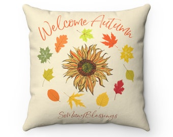Autumn Welcome Pillow-Case: 3 sizes by Pam Ponsart for Pam's Fab Photos