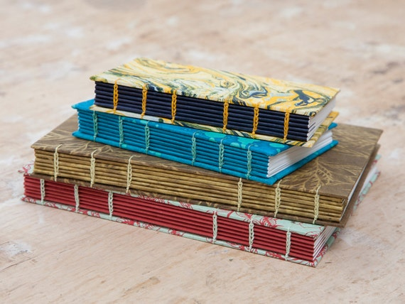 Bespoke Coptic Stitch Sketchbook, Journal or Notebook, Personalised and Hand Bound - Perfect Travel Journal or Artist Gift