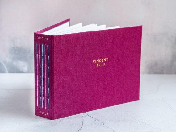 Bespoke Personalised Photo Album Album - Cloth Bound -  Hand Bound Fabric Wedding Album / Baby Album - Instax Wedding Guest Book