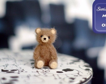 OOAK Needle felted teddy bear miniature original handmade all colors soft sculpture / Made To Order / by SaniAmani