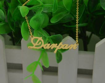 Personalized Gold name plate necklace-name necklace-custom name jewelry-gifts for everyone