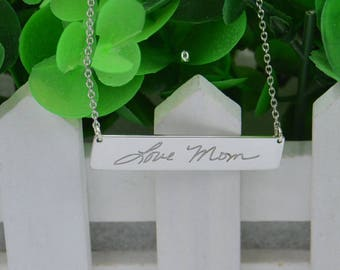 Christmas necklace-handwriting necklace-signature necklace-Handwritten jewelry-handmade gift for Mom