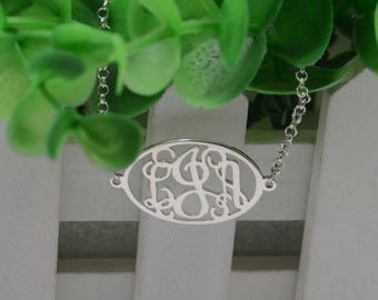 Personalized Monogram initials bracelet-Sterling silver monogram jewelry-custom initials gift for bestfriend
