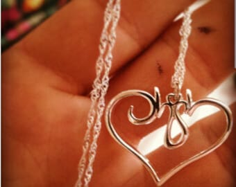 custom silver necklace,1.25 inch necklace,gifts for everyone,christmas gifts