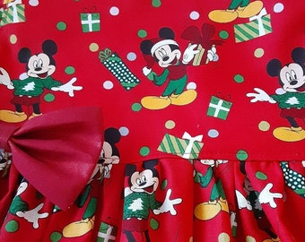 Mickey Mouse Christmas Dress Christmas MICKEY MOUSE Dress Red Mickey Dress Flutter orSleeveless 3mo.to6yr. Handmade By BabyCuteBaby.etsy.com