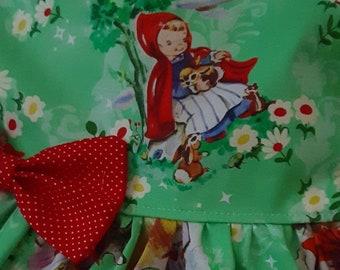 Little Red Riding Hood Dress  Birthday Party Dress 1st Birthday Dress 3mo.to 6yr Flutter or Sleeveless Storybook Dress handmade BabyCuteBaby