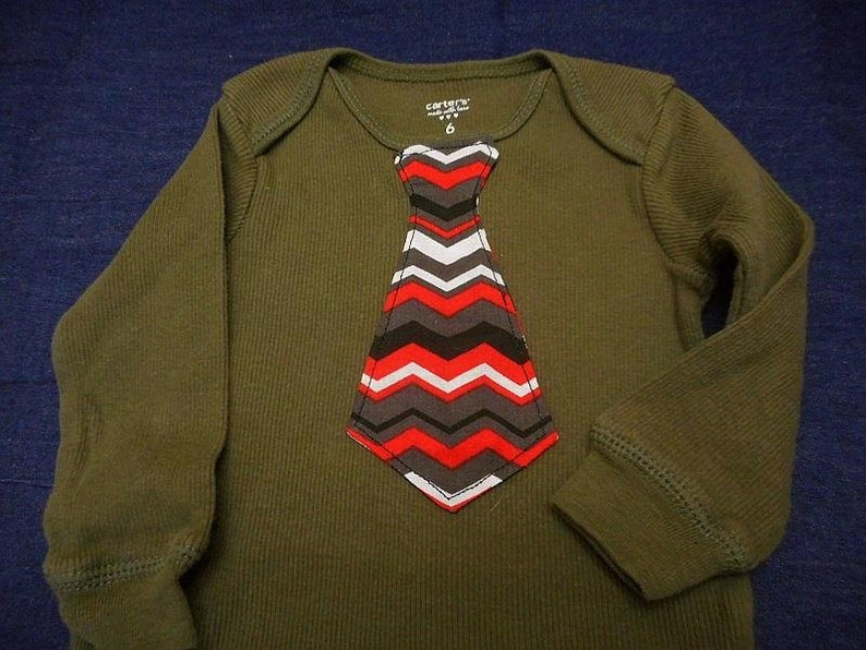 Sale 11.00 Long Sleeve only SALE Baby Boy Neck Tie on Carter/'s Bodysuit Available in Size 6 mo
